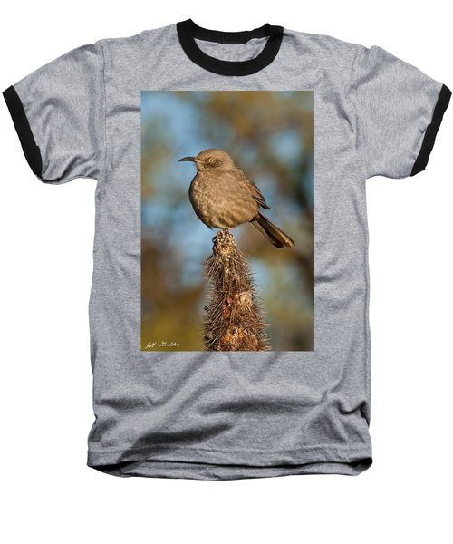 Curve-billed Thrasher On A Cactus Baseball T-Shirt