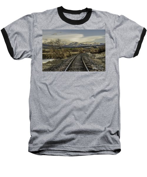 Curve In The Tracks Baseball T-Shirt