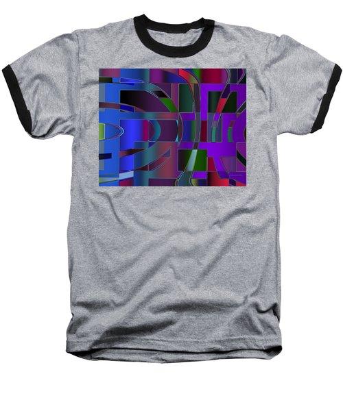 Baseball T-Shirt featuring the digital art Curves And Trapezoids 2 by Judi Suni Hall