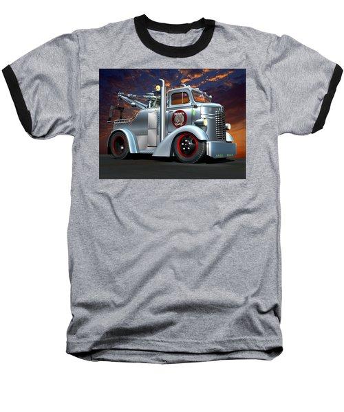 Custom Coe Tow Truck Baseball T-Shirt by Stuart Swartz