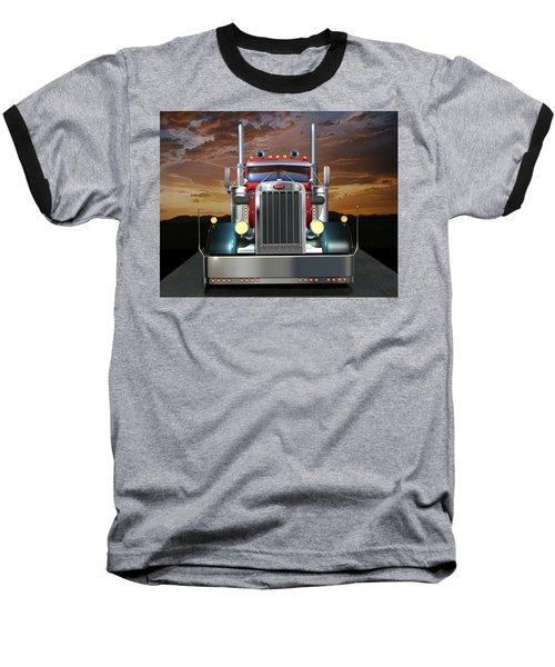 Custom Peterbilt Baseball T-Shirt
