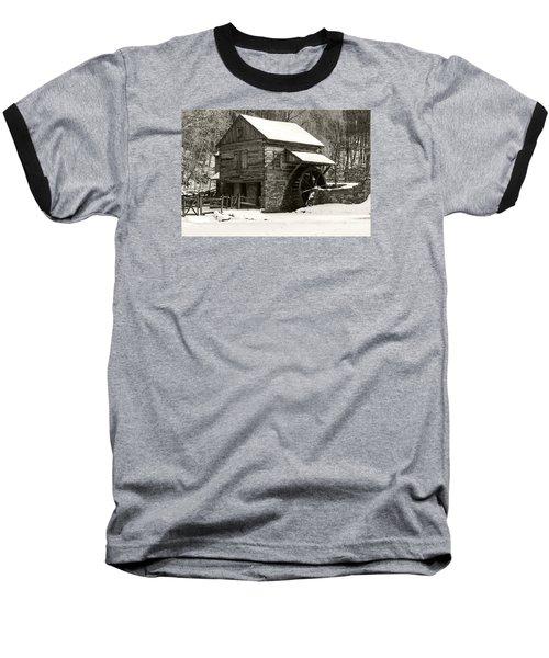 Cuttalossa In Winter Iv Baseball T-Shirt by Debra Fedchin