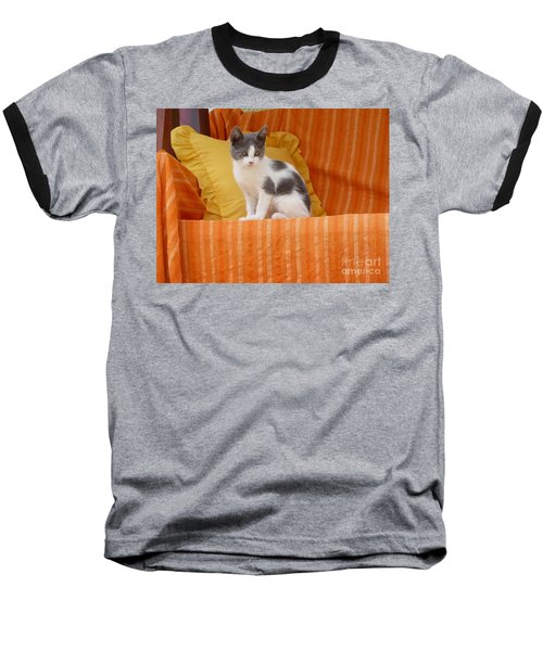 Baseball T-Shirt featuring the photograph Cute Kitty by Vicki Spindler