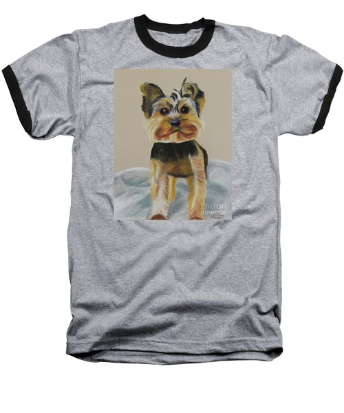 Cute Yorkie Baseball T-Shirt
