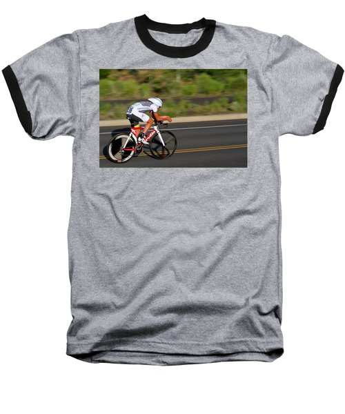 Cycling Time Trial Baseball T-Shirt