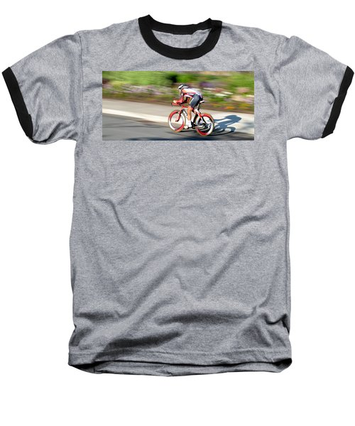 Baseball T-Shirt featuring the photograph Cyclist Time Trial by Kevin Desrosiers