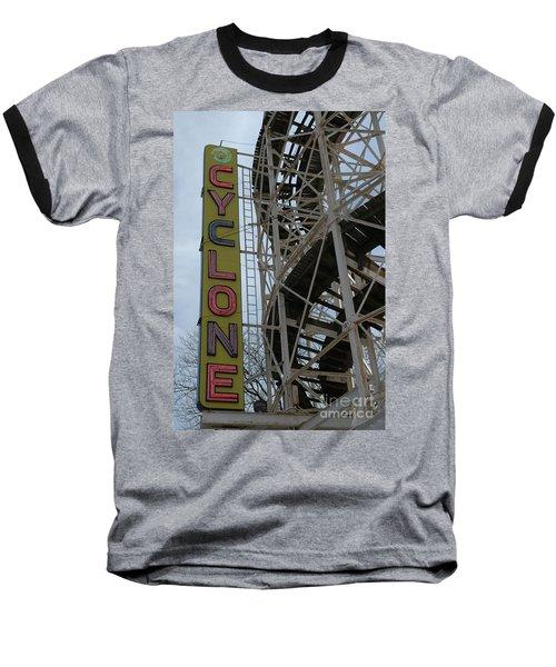 Cyclone - Roller Coaster Baseball T-Shirt
