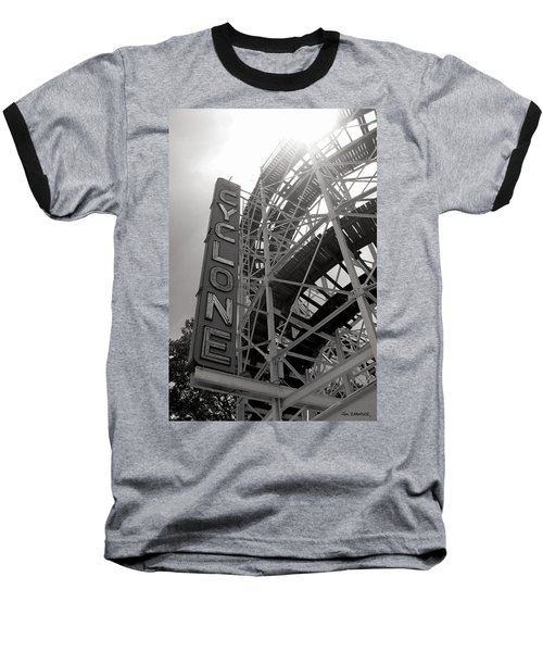 Cyclone Rollercoaster - Coney Island Baseball T-Shirt by Jim Zahniser