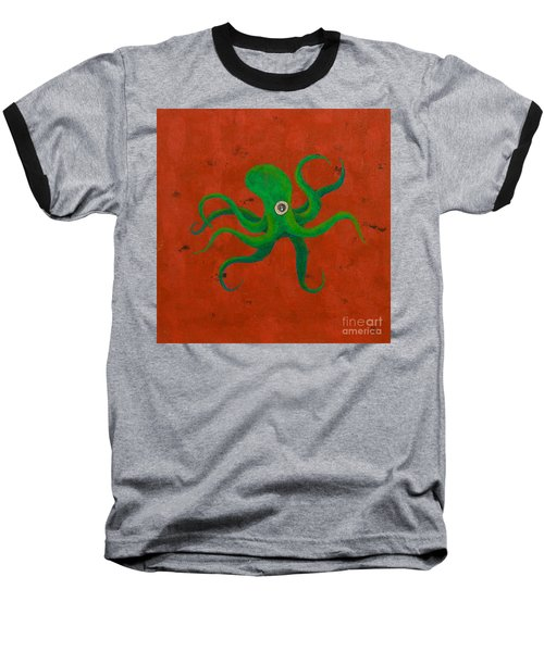 Cycloptopus Red Baseball T-Shirt