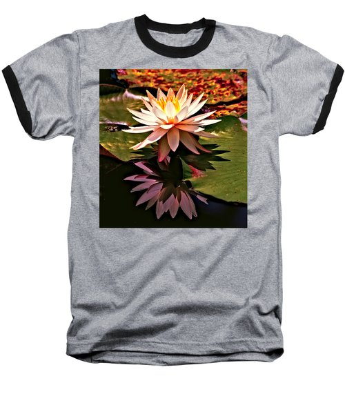 Cypress Garden Water Lily Baseball T-Shirt by Bill Barber