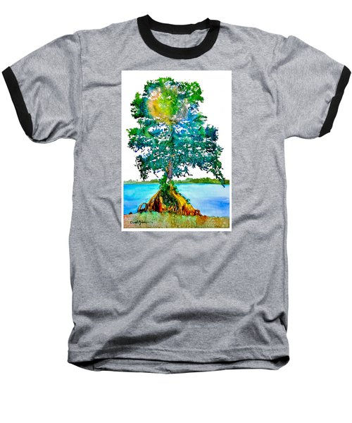 Da107 Cypress Tree Daniel Adams Baseball T-Shirt