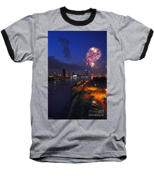 D12u470 Red White And Kaboom In Toledo Ohio Photo Baseball T-Shirt