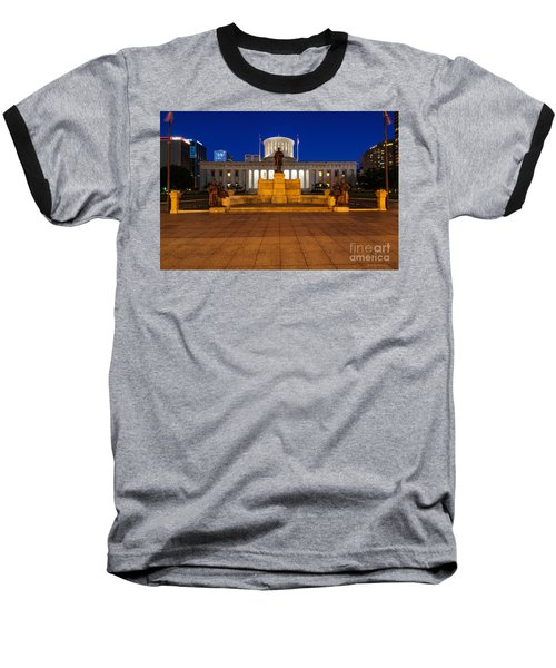 D13l112 Ohio Statehouse Photo Baseball T-Shirt