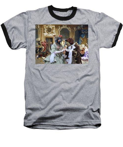 Dachshund Art - Royal Party Baseball T-Shirt