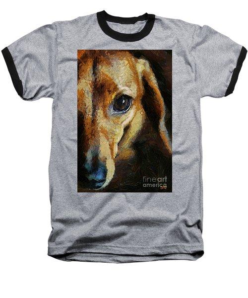 Dachshund Chocolate Baseball T-Shirt