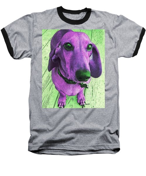Dachshund - Purple People Greeter Baseball T-Shirt