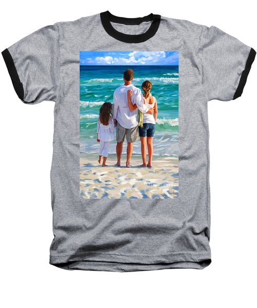 Dad And His Girls Baseball T-Shirt