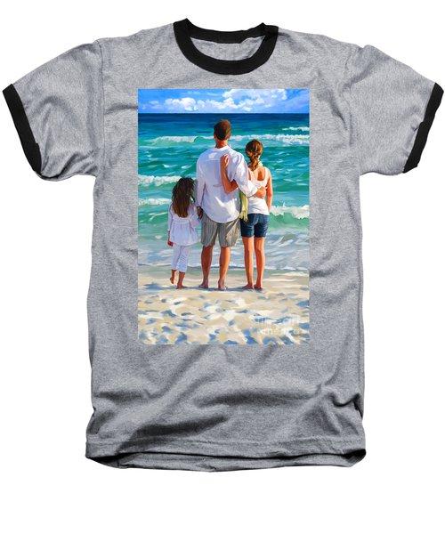 Dad And His Girls Baseball T-Shirt