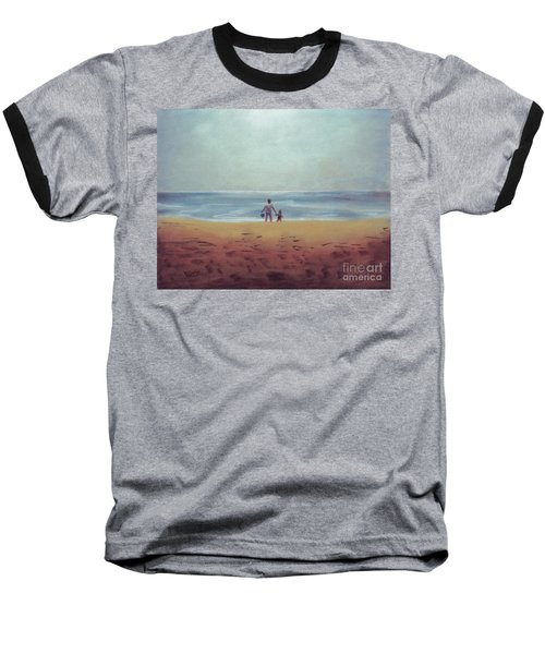 Daddy At The Beach Baseball T-Shirt