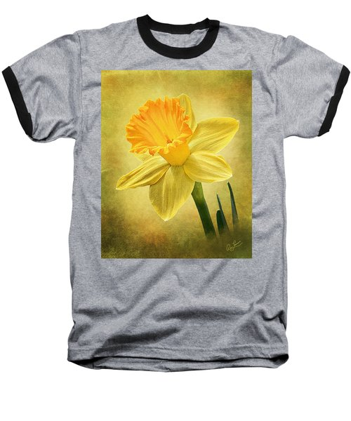 Baseball T-Shirt featuring the photograph Daffodil by Ann Lauwers