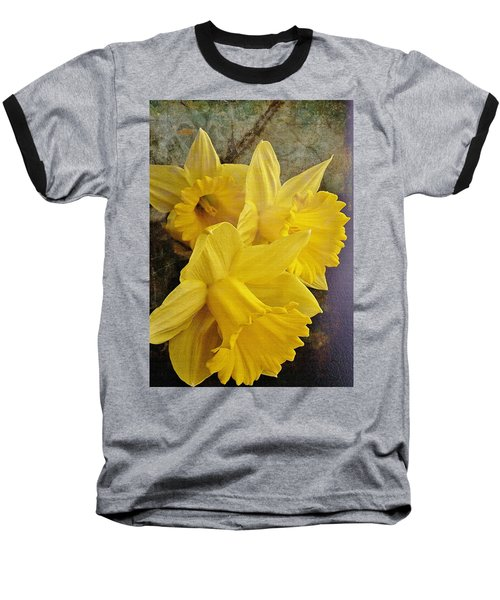 Baseball T-Shirt featuring the photograph Daffodil Burst by Diane Alexander