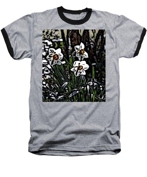 Baseball T-Shirt featuring the digital art Daffodil by David Lane