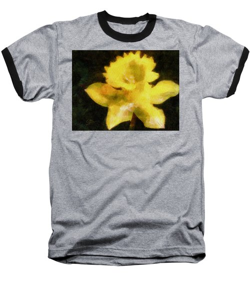 Baseball T-Shirt featuring the painting Daffodil by Greg Collins
