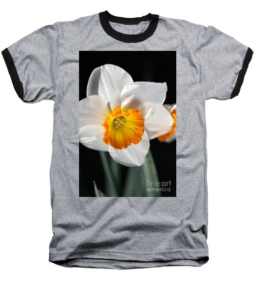 Daffodil In White Baseball T-Shirt