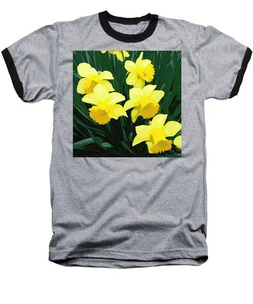Daffodil Song Baseball T-Shirt by Pamela Hyde Wilson