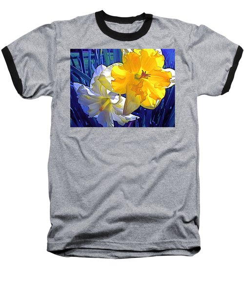 Baseball T-Shirt featuring the photograph Daffodils 1 by Pamela Cooper