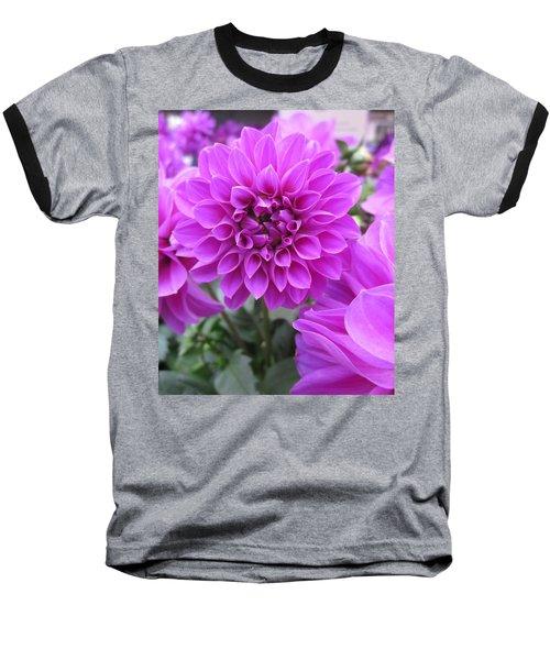 Dahlia In Pink Baseball T-Shirt