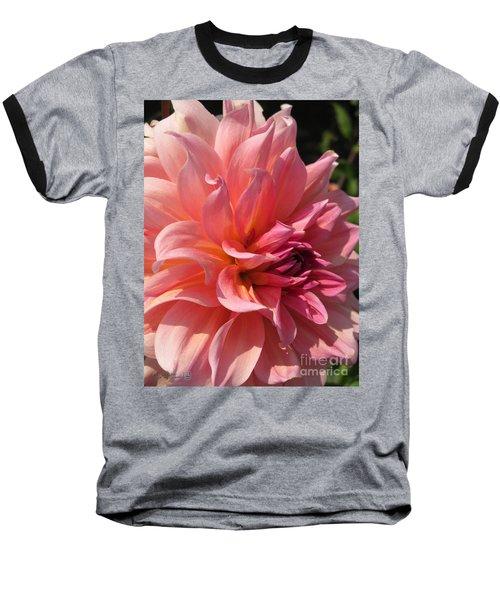 Dahlia Named Fire Magic Baseball T-Shirt by J McCombie