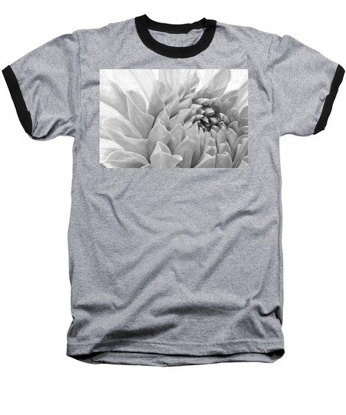 Dahlia Petals - Digital Pastel Art Work  Baseball T-Shirt by Sandra Foster