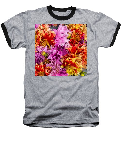 Dahlia Swirl Baseball T-Shirt