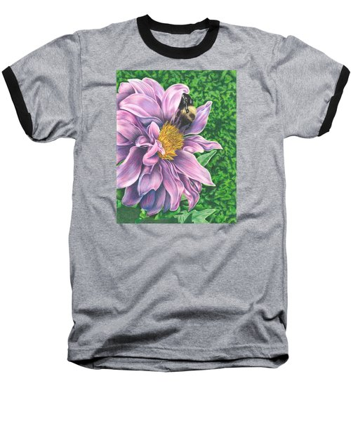 Baseball T-Shirt featuring the drawing Dahlia by Troy Levesque