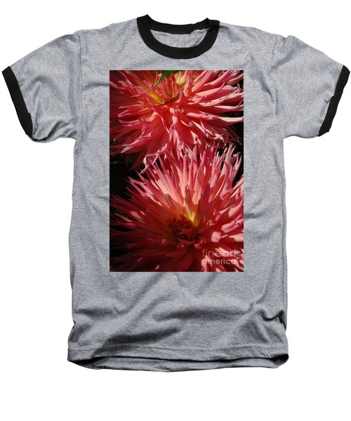 Dahlia Vi Baseball T-Shirt by Christiane Hellner-OBrien