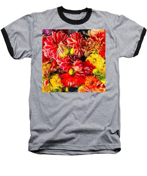 Dahlias Summer Color Baseball T-Shirt