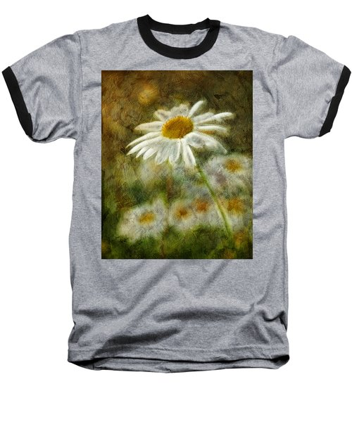 Daisies ... Again - P11at01 Baseball T-Shirt by Variance Collections