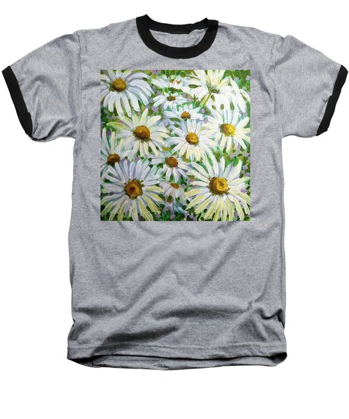Daisies Baseball T-Shirt by Jeanette Jarmon