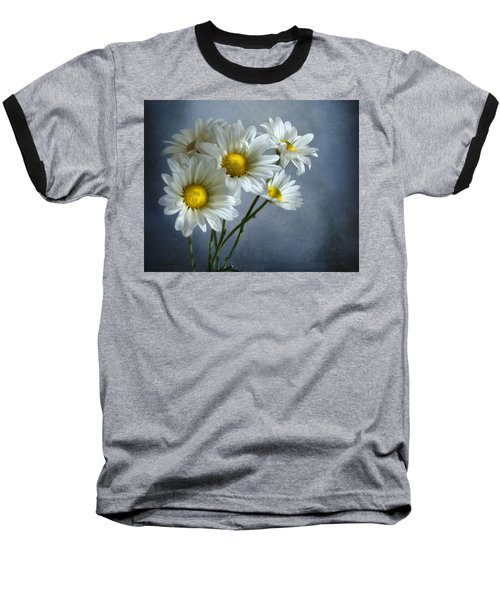 Baseball T-Shirt featuring the photograph Daisy Bouquet by Ann Lauwers