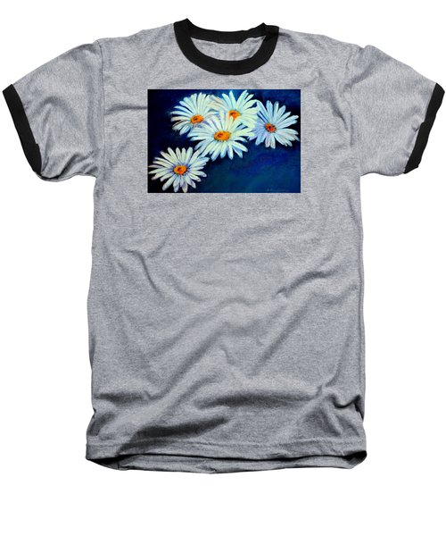 Baseball T-Shirt featuring the pastel Daisy Fever  Pastel by Antonia Citrino