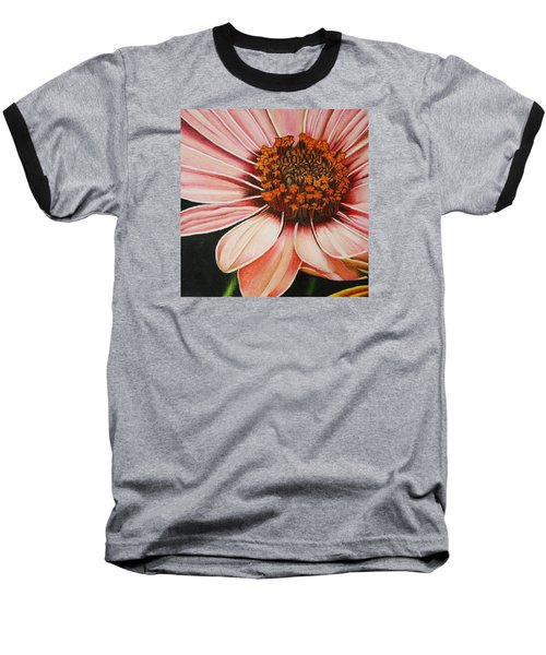 Daisy In Pink Baseball T-Shirt by Bruce Bley