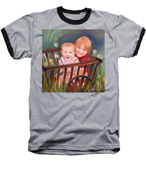 Daisy - Portrait - Girls In Wagon Baseball T-Shirt