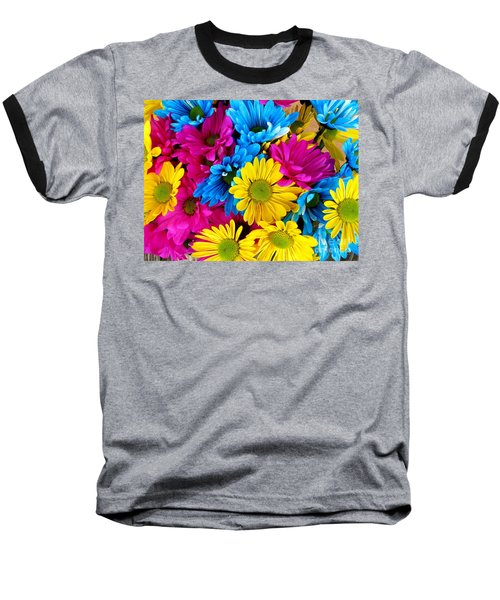 Baseball T-Shirt featuring the photograph Daisys Flowers Bloom Colorful Petals Nature by Paul Fearn