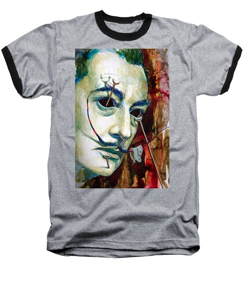 Baseball T-Shirt featuring the painting Dali 2 by Laur Iduc