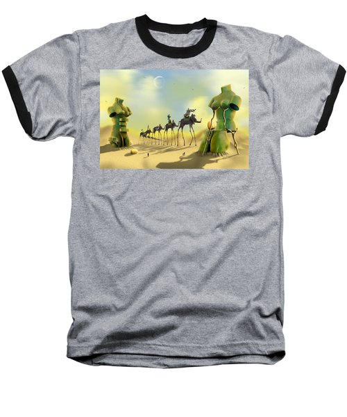 Dali On The Move  Baseball T-Shirt by Mike McGlothlen