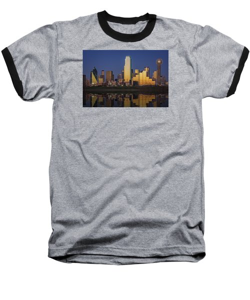 Dallas At Dusk Baseball T-Shirt by Rick Berk