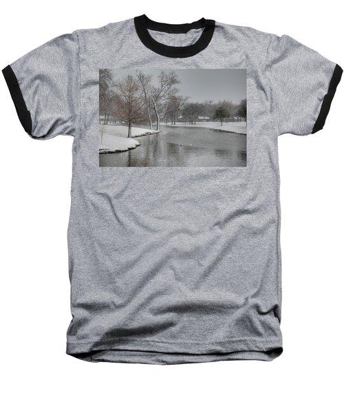 Dallas Snow Day Baseball T-Shirt