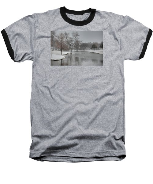 Dallas Snow Day Baseball T-Shirt