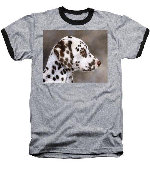 Dalmatian Puppy Painting Baseball T-Shirt